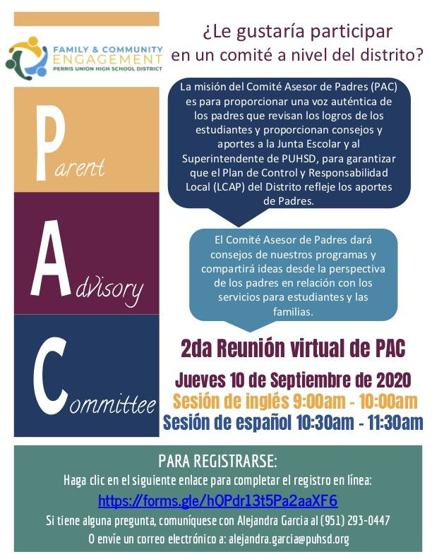 PAC flyer spanish