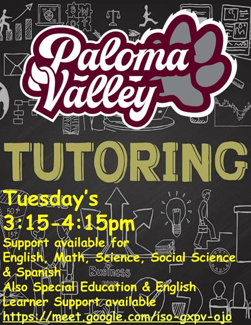 PVHS After School Tutoring
